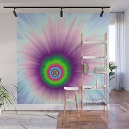 Explosion in Green Purple and Blue Wall Mural