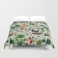 woodland Duvet Covers featuring Woodland by Emma Jansson