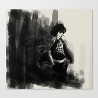 nico di angelo Canvas Prints featuring Nico di Angelo by Tonz