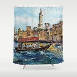 Abra Ride - Dubai Creek  Shower Curtain