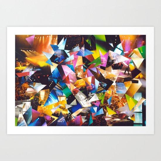 Collage Love: Music Art Print