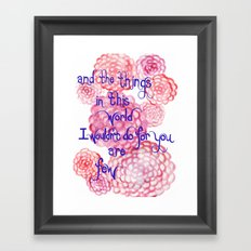 Few Framed Art Print