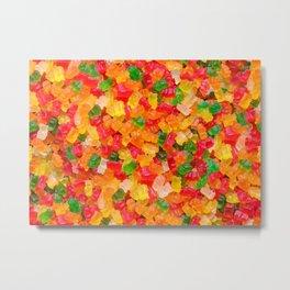 Gummy Bears Real Candy Pattern Metal Print