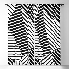 Abstract Striped Triangles Blackout Curtain