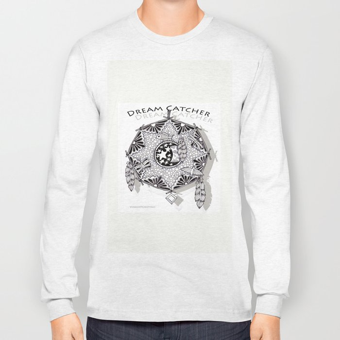 Zentangle Dreamcatcher Long Sleeve T-shirt