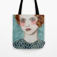 lady gaga Tote Bags featuring Sasha by Sofia Bonati