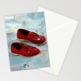 Red Boat Shoes Stationery Cards