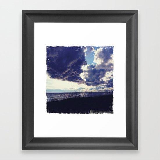 U.P. Clouds Framed Art Print