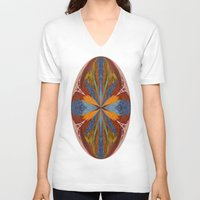 marble V-neck T-shirts featuring Marble by Lady Tanya bleudragon