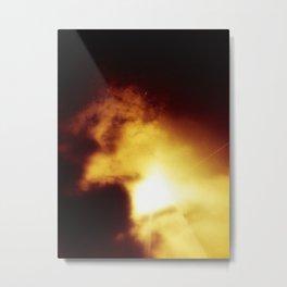 Golden Cloud Dragon With Treasure Metal Print