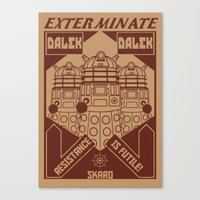 propaganda Canvas Prints featuring Dalek propaganda by Buby87