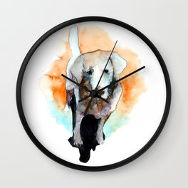 dog#20 Wall Clock