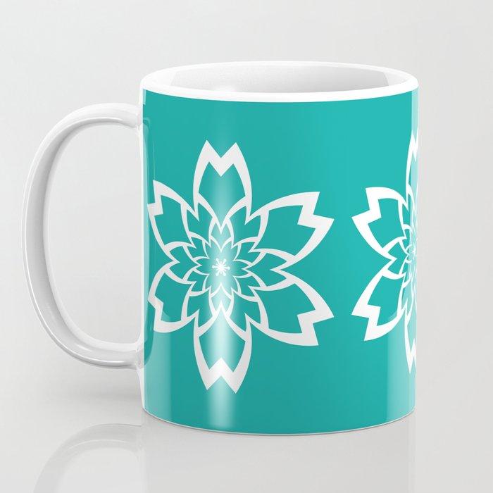 Teal Flower Coffee Mug