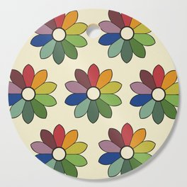 Flower pattern based on James Ward's Chromatic Circle Cutting Board