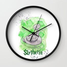Slytherin - H a r r y P o t t e r inspired Wall Clock