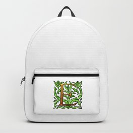 Monogram Alphabet Letter Design 'E' Backpack