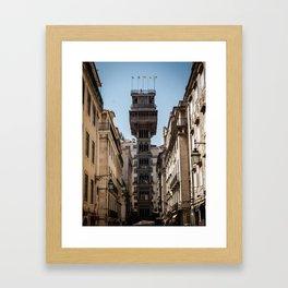 Santa Justa Elevator, Lisbon - Portugal Framed Art Print