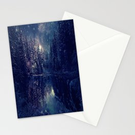 Winter Forest Deep Pastel Stationery Cards