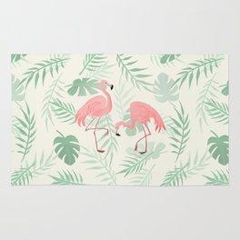 Flamingo Love Tropical Rug