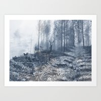 After the fire III Art Print