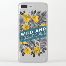 Wild & Beautiful – Yellow Palette Clear iPhone Case