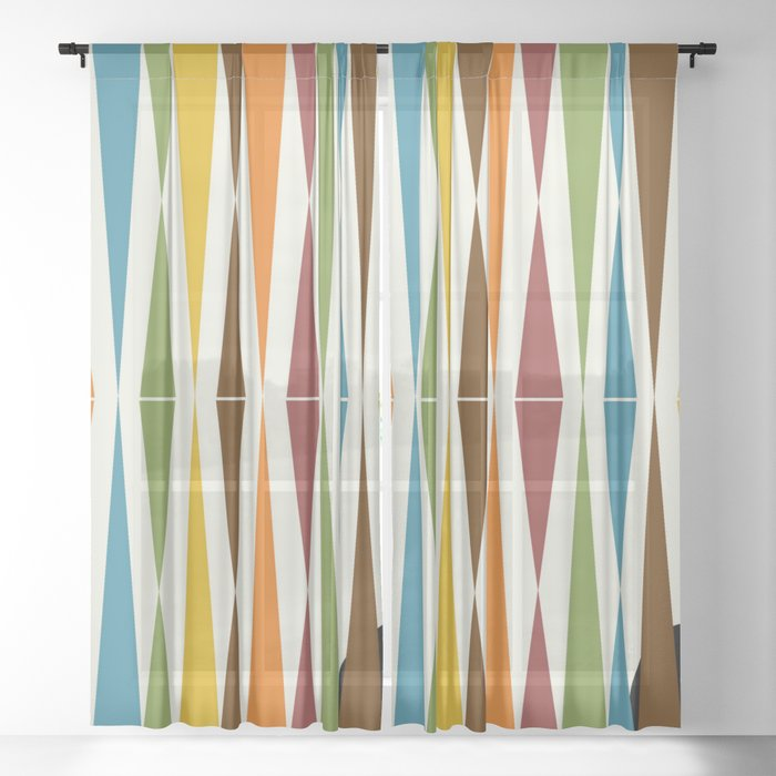 Mid-Century Modern Art 1.4 Sheer Curtain
