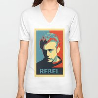 rebel V-neck T-shirts featuring Rebel by Sparks68