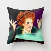 hocus pocus Throw Pillows featuring Hocus Pocus by Fransisqo82