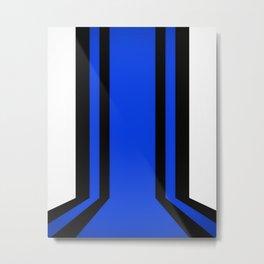 Blue Line Metal Print