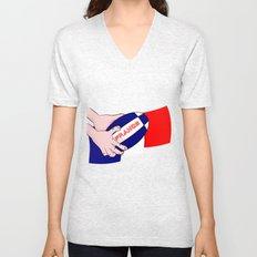 France Rugby Ball Flag Unisex V-Neck