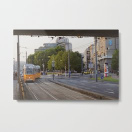 Budapest City Train Metal Print