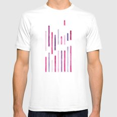 Cotton Candy Arrows White Mens Fitted Tee MEDIUM