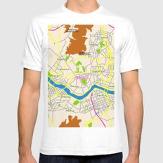 Seoul map Design MEDIUM White Mens Fitted Tee