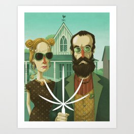 American Gothic High Art Print