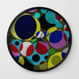 Bubbles - Fun, geometric, colourful design Wall Clock