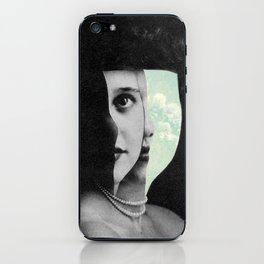 floating daydream woman iPhone Skin