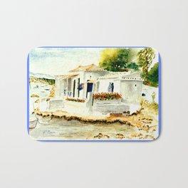 White House on the Beach Bath Mat