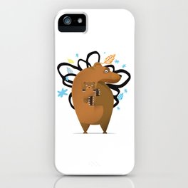 small and big bear iPhone Case
