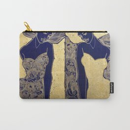 ANTICIPATION IN GOLD. DIPTYCH Carry-All Pouch