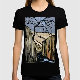 Linocut Canyon Color T-shirt