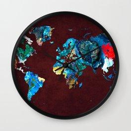 World Map 7 Wall Clock