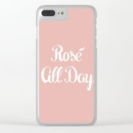 Rosé All Day Clear iPhone Case