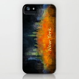 New York City Skyline Hq V04 iPhone Case