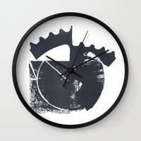 industrial Wall Clocks featuring Industrial by Lucas del Río