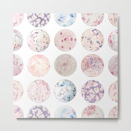 Microbe Collection Metal Print