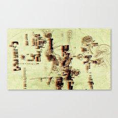 Illustration Mashup Canvas Print