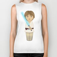 luke hemmings Biker Tanks featuring Kokeshi Luke by Pendientera