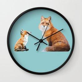 Fox Tenderness Wall Clock