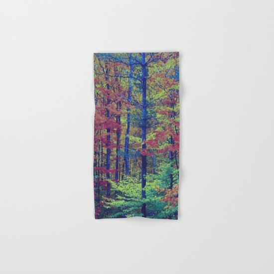 Forest - with exaggerated colors Hand & Bath Towel