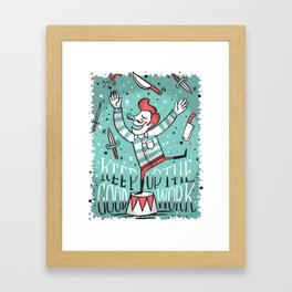 All up in the air Framed Art Print